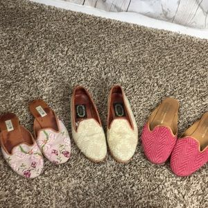 Lot of designers loafers and slides size 6 n 7